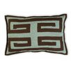 Vanderbloom Leon Greek Key Linen/Cotton Lumbar Pillow