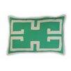Vanderbloom L'Ampolla Greek Key Linen/Cotton Lumbar Pillow