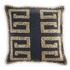 Vanderbloom Carvin Greek Key Linen/Cotton Throw Pillow