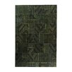 Ornate Carpets Carpet Patchwork Handmade Green Area Rug