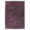 Ornate Carpets Carpet Patchwork Handmade Purple Area Rug