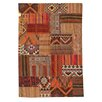 Ornate Carpets Kilim Hand-Woven Brown/Red Area Rug