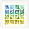 Melissa Van Hise Colorsphere Cool Framed Graphic Art