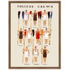 Melissa Van Hise 'College Crew' by Christie Brace Framed Graphic Art