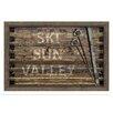 Melissa Van Hise Ski SunValley Framed Textual Art