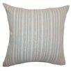 The Pillow Collection Bencelina Stripes Cotton Throw Pillow