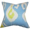 The Pillow Collection Cleon Ikat Linen Throw Pillow