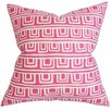 The Pillow Collection Xabrine Geometric Cotton Throw Pillow