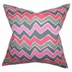 The Pillow Collection Achsah Zigzag Cotton Throw Pillow