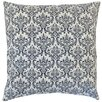 The Pillow Collection Laibah Damask Cotton Throw Pillow Cover