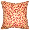 The Pillow Collection Bentlee Mosaic Tile Cotton Throw Pillow