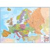 Waypoint Geographic Europe 1:4.3 Laminated Wall Map