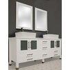 """Cambridge Plumbing White Emerald 65"""" Double Bathroom Vanity Set"""