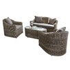 Rowlinson Bunbury 4 Seater Sofa Set with Cushions