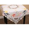 Xia Home Fashions Country Egg Embroidered Cutwork Table Topper