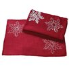 Xia Home Fashions Christmas Embroidered with Snowflakes Placemat (Set of 4)
