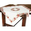 Xia Home Fashions Poinsettia Lace Embroidered Cutwork Table Napkin