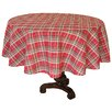Xia Home Fashions Holiday Tartan Christmas Round Tablecloth