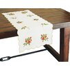 Xia Home Fashions Holly Berry Embroidered Table Runner