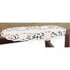 Xia Home Fashions Daisy Garden Embroidered Cutwork Mini Table Runner