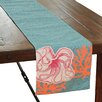 Xia Home Fashions Coastal Applique Octopus with Print Coral Table Runner
