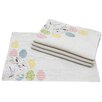Xia Home Fashions Bunny Eggs Printed Applique Jute Easter Placemat (Set of 4)