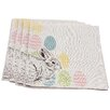 Xia Home Fashions Bunny Eggs Printed Easter Napkin