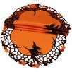 Xia Home Fashions Witch Embroidered Cutwork Halloween Doily (Set of 4)