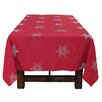 Xia Home Fashions Snowy Noel Embroidered Snowflake Christmas Tablecloth