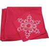 Xia Home Fashions Snowy Noel Embroidered Snowflake Christmas Napkin (Set of 4)