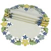 Xia Home Fashions Fancy Flowers Round Doily (Set of 4)