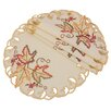 Xia Home Fashions Moisson Leaf Embroidered Cutwork Fall Placemat (Set of 4)