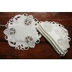Xia Home Fashions Delicate Lace Embroidered Cutwork Doilie (Set of 4)