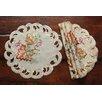 Xia Home Fashions Thankful Leaf Embroidered Cutwork Fall Doilie (Set of 4)