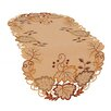 Xia Home Fashions Harvest Verdure Embroidered Cutwork Fall Table Runner