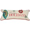 Xia Home Fashions Holiday Happy Holidays Bolster Pillow