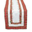 Xia Home Fashions Tartan Ribbon Embroidered Holiday Table Runner