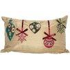 Xia Home Fashions Noel Christmas Ribbon with Ornaments Lumbar Pillow