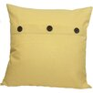 Xia Home Fashions Solid Button Throw Pillow