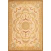 Pasargad Savonnerie Hand-Knotted Ivory/Yellow Area Rug