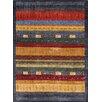 Pasargad Silk Gabbeh Grey/Red Area Rug