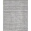 Pasargad Hand-Knotted Wool and Bamboo Silk Silver Area Rug