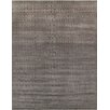 Pasargad Hand-Knotted Wool and Bamboo Silk Black Area Rug