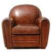 Pasargad Genuine Leather Paris Arm Chair