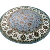 Pasargad Agra Hand-Knotted Green Area Rug