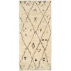 Pasargad Moroccan Hand-Knotted Ivory Area Rug