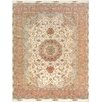 """Pasargad Pasargad Tabriz Collection Hand-Knotted Silk & Wool Area Rug- 8' 2"""" X 11' 8"""""""
