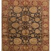 Pasargad Agra Hand-Knotted Black/Red Area Rug