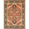 Pasargad Serapi Hand-Knotted Rust/Blue Area Rug