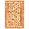 Pasargad Hand-Woven Orange/Beige Area Rug